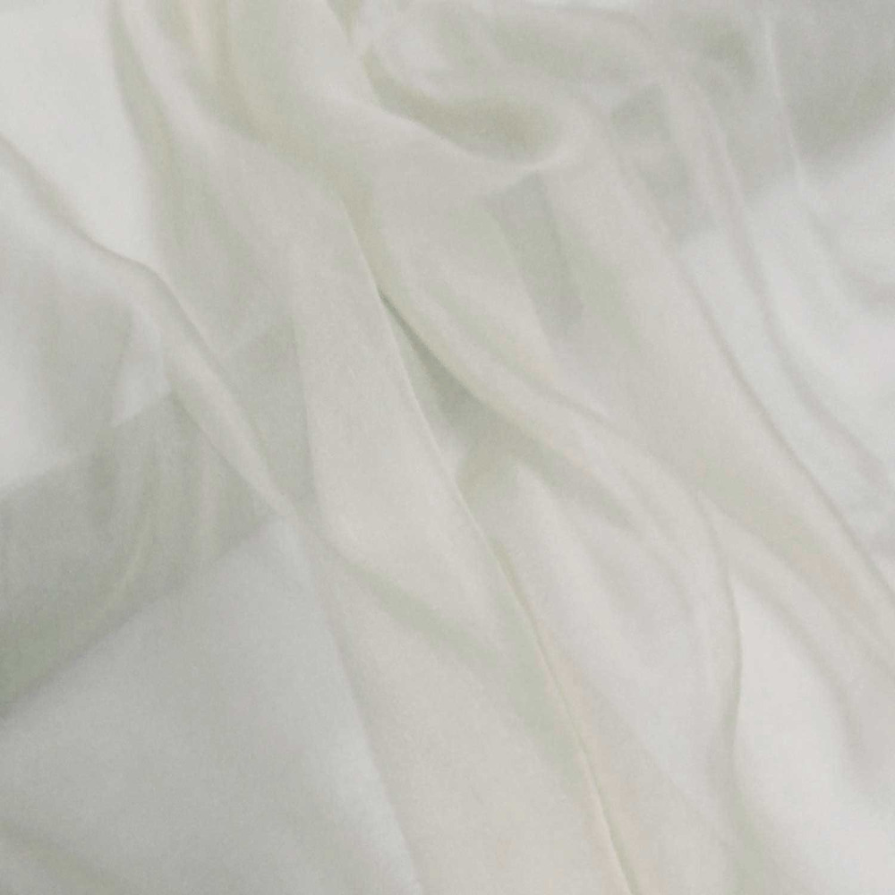 Off-White-Gorgeous-100-Pure-Silk-Soft-Sheer-Chiffon-Fabric ...