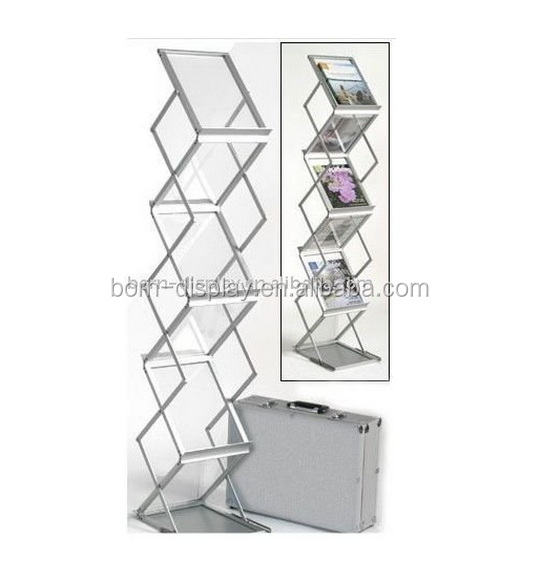 Trade Show Outdoor Base A4 Catalogue Shelf with Aluminum Case