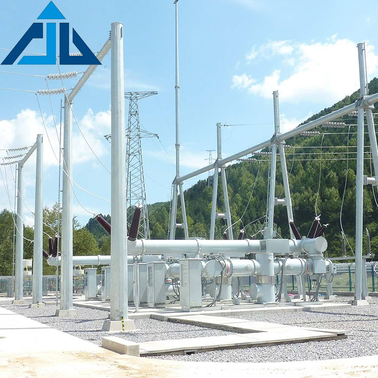 Most popular hot sale high quality electric power transmission line substation steel structures