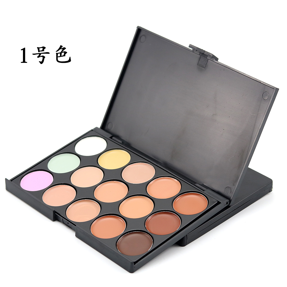 15 Color Face Contour Palette Corrector Cover Professional Cream Palette