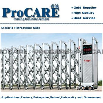 Electric Intelligent Folding Gate Motorized Gate Retractable Door ...