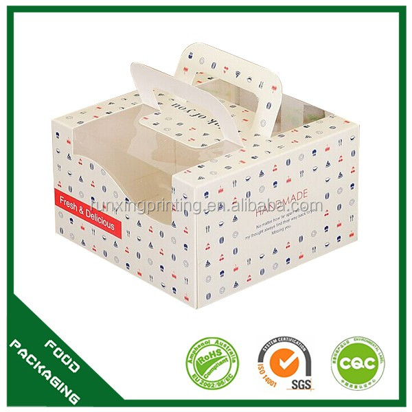 beautiful cake boxes pink,white with handle
