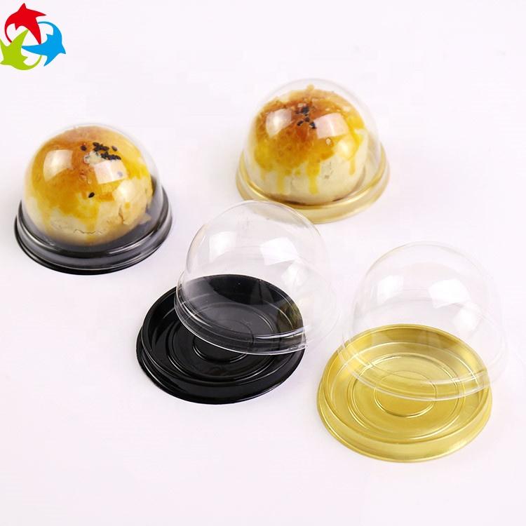 Aangepaste mini cake clear verpakking mini cupcake plastic containers