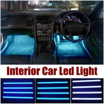High quality 4 PCS Car interior light accessories decorative led car ...