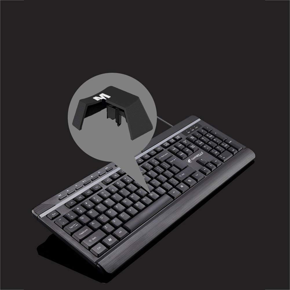 e0161b03f32 Get Quotations · elegantstunning Professional Business Wired/Wireless  Keyboard Light Portable Ultra-Thin Keyboard for Home Office