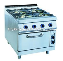 Hotel Kitchen Equipment Gas Range with Electric Oven