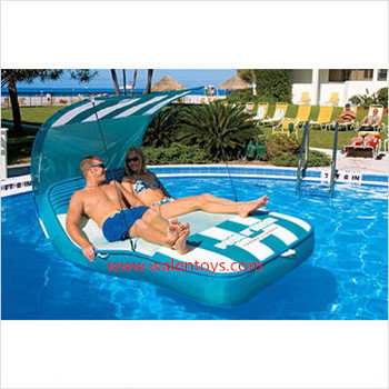 LARGE DELUXE SWIMMING POOL FLOAT RAFT INFLATABLE AIR MATTRESS LOUNGE CABANA