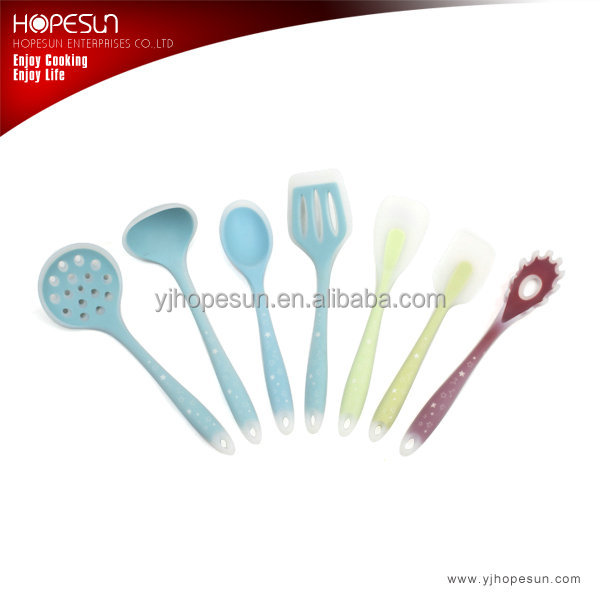 Food grade colorful silicone kitchen utensils sets cooking tools sets