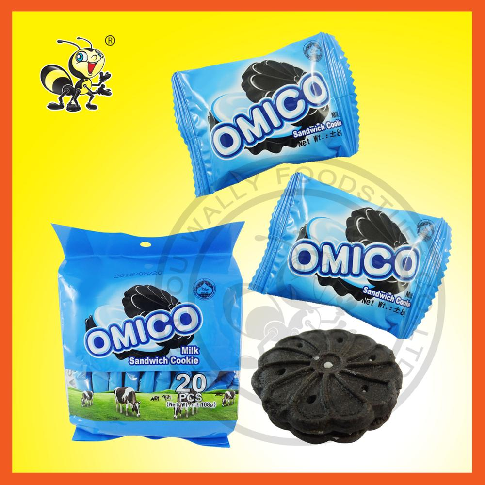 Chocolate Biscuit Omico Sandwich Cookies