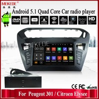 Android 5.1 cassette recorder with RK3188 1.6GHz Cortex A9 Quad core for Peugeot 301 /Cotroen Elysee