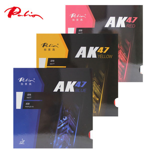 Palio AK47 table tennis rubber ittf approved red blue yellow rubber high speed and loop