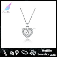 2015 latest new design silver color charms heart locket pendant