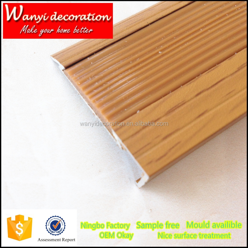 Charming Wood Grain Aluminum Flooring Trim For Joint And Connection Of Floor And  Carpet   Buy Aluminum Wooden Floor Trim,Rubber Flooring Trim,Laminate  Flooring Trim ...