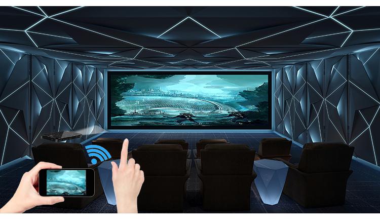 Tragbare Smart Home Theater Tasche Android 6.0 OS Mini Projektor
