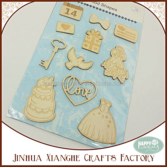Bridal Veil and Cake Laser Cut Wooden Shape for Wedding