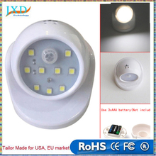 9 LED Wireless Motion Sensor Night Light 360 Degrees Rotation Wall Lamp Auto PIR IR Infrared Detector Security Lamp