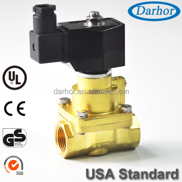 Piston Type Brass 120V Solenoid Hot Water Valve for High Temperature 100%ED Coil