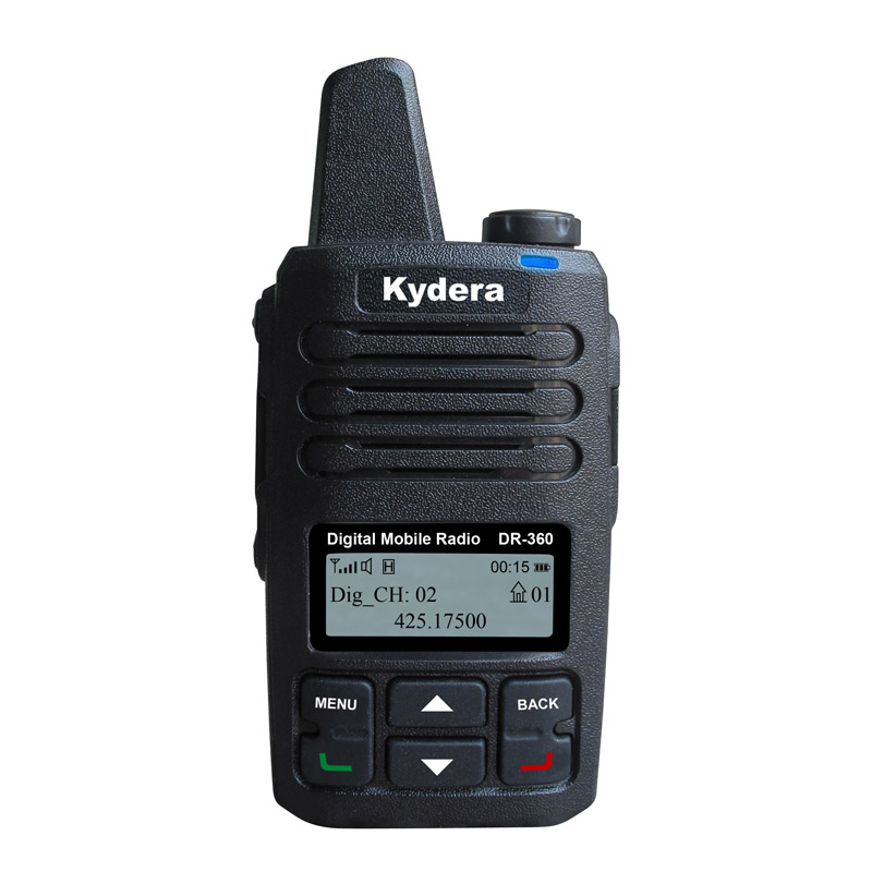 CE & FCC approvato digitale a due vie radio VHF trasmettitore DR-360 DMR Tipo C caricabatterie walkie talkie radio