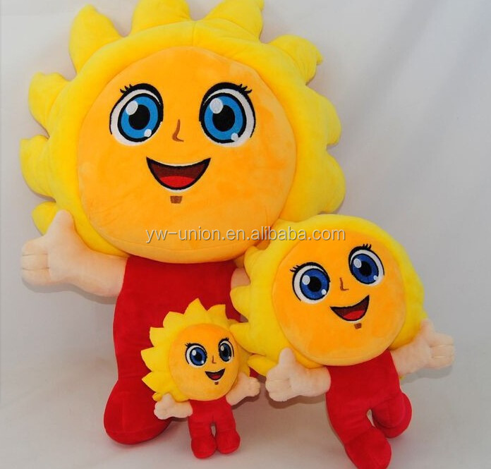 Sun flower bear toys , smiling stuffed toys ,solar flower toys