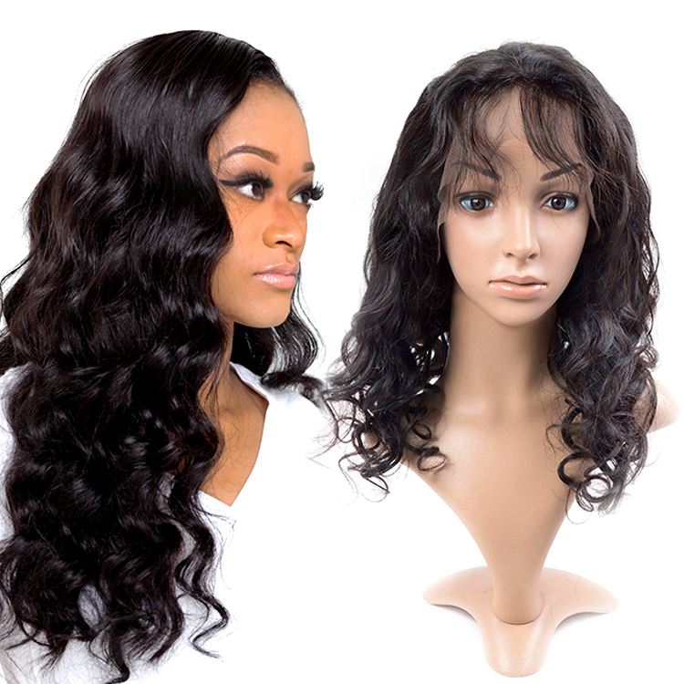 Natural full lace human hair wig,cheap brazilian human hair full lace wig for black women,silk base full lace wig with baby hair