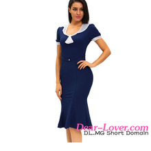 Classic Wholesale Stop Staring Navy Ivory Vintage Sexy Honeymoon Dresses Image