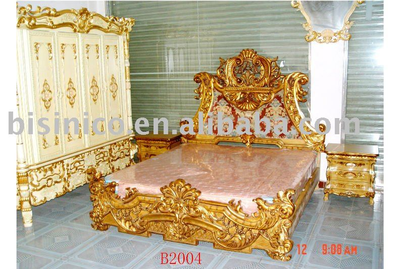 Louis Style Classical & Antique Wooden Luxury Bedroom Set,King ...