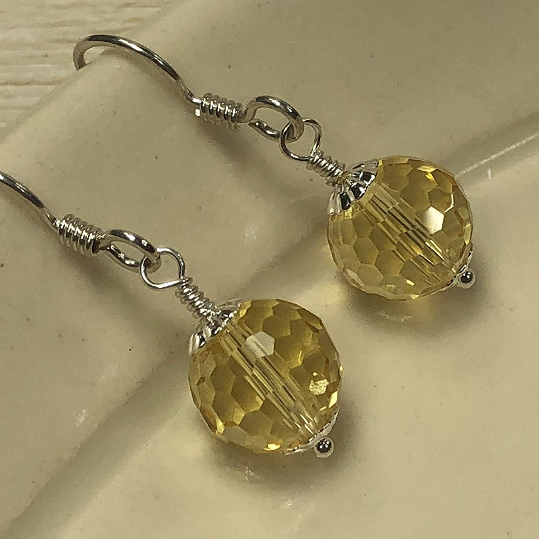 ec74d0bf4 Get Quotations · JANECKA Citrine Gemstone Earrings/November Birthstone