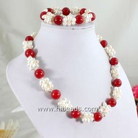 Glowing freshwater pearl necklace FN0017