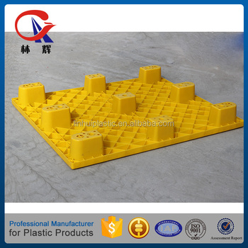 HDPE Material Light Weight Single Face Non Wood Plastic Tray Euro Pallet