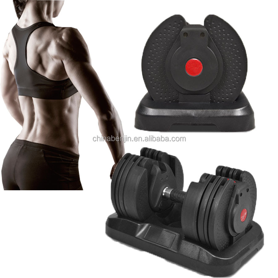 20kgs/50lbs Rotation Handle Selectable Weights Set Adjustable Dumbbells Workout