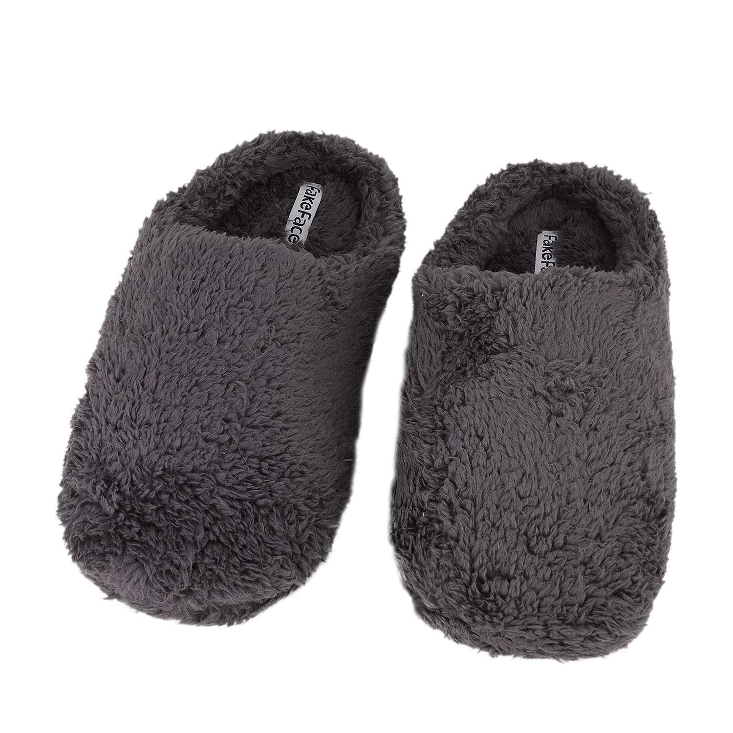 452cf63a5669f3 Get Quotations · Greenery-GRE Memory Foam Indoor Slippers for Women Men  Soft Warm Fleece Non-Slip