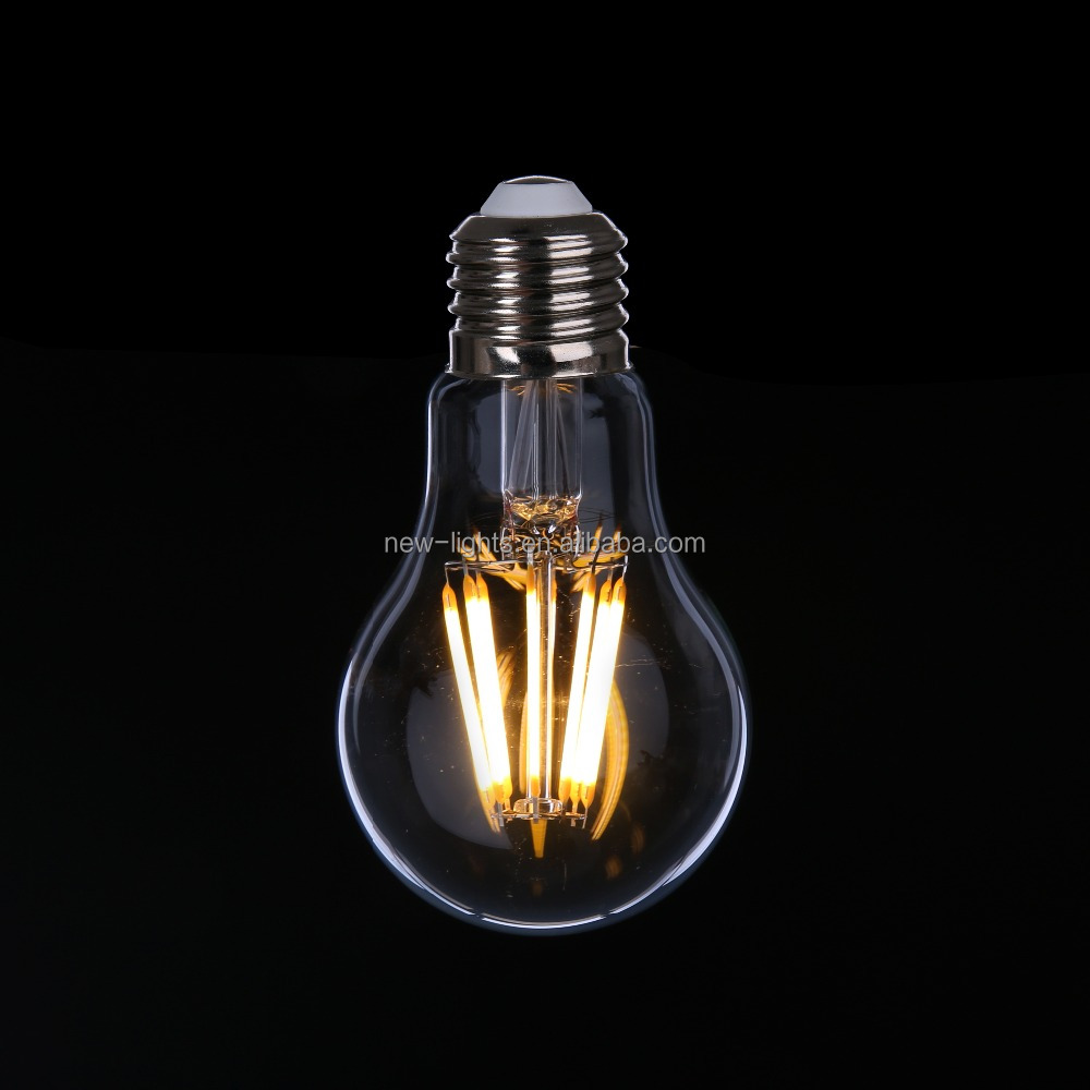long life time >30000hrs dimmable led filament <strong>bulb</strong> A60 4w