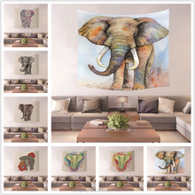 Colorful Animal Elephant Style Home Decorative Wall Hangings Tapestry Mat