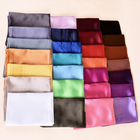 Hot sale cheap size 90*90 cm plain satin silk scarf square