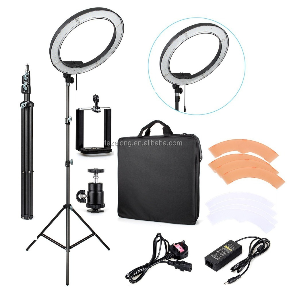RL-18 DSLR camera photo ring light 55w 5500k photography equipment stuio flash light lamp fluorescent led circle light lamp