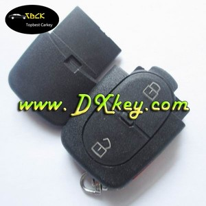 2+panic unit key case with big battery holder for power key vw for vw car key