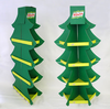 Christmas Tree shape Floor display stand rack POP sales manufacturer OEM Customized corrugated paper standing rack