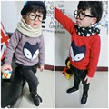 MS83690M new arrival kids fox design soft pullover sweater