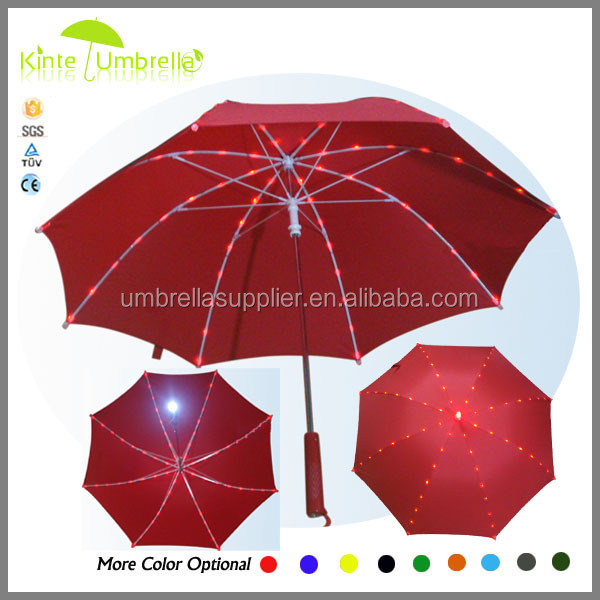 2015 hot selling LED solar panel umbrella