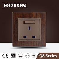 13A 3 pin wall switch socket nice design UK socket