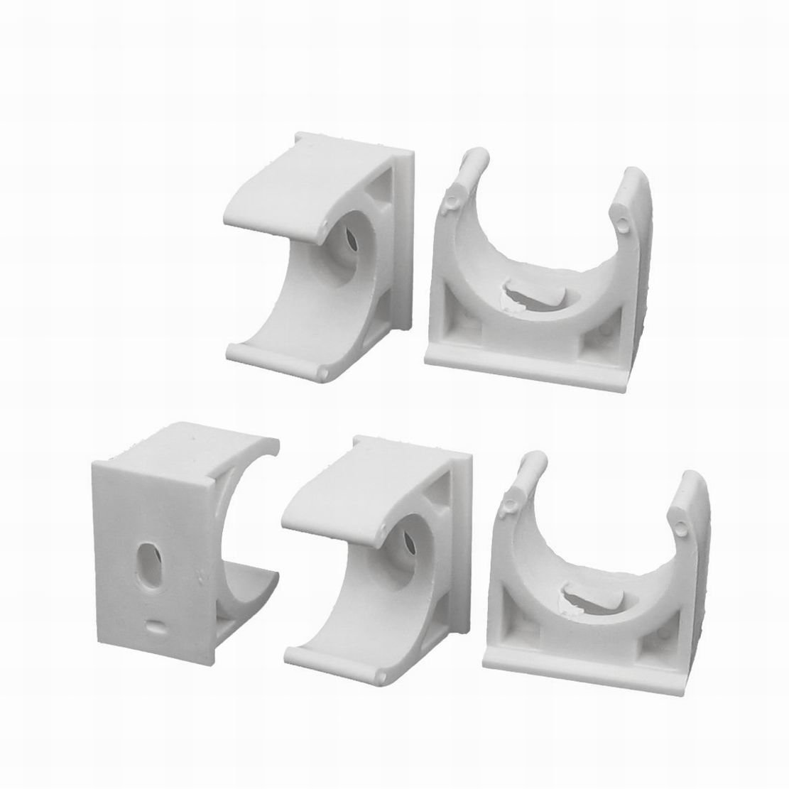 PVC Pipe or EMT Conduit Clamp Row Cover Clips for Greenhouse Plastic Shade Cloth Attachment 1//2 inch 10 Pack Bootstrap Farmer Snap On Clamps