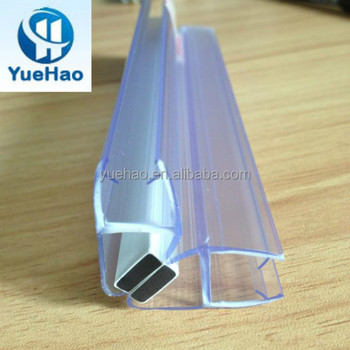 supply transparent silicone rubber glass shower door seal strip