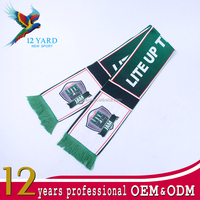 customized national football team sport fan items knitting hockey fan scarf, protective scarf and shawl