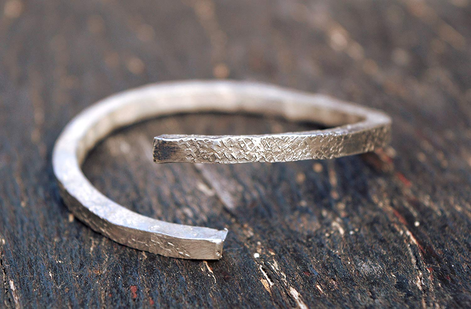 sterling silver stacking bangle THICK, rustic sterling silver bracelet, handmade rustic bangle, thick, unique bangle,metalsmith, handforged,rustic sterling silver