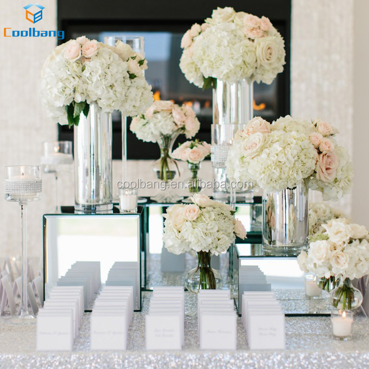 Factory Price Creative Clear Wedding Decorative Glass Flower Vases