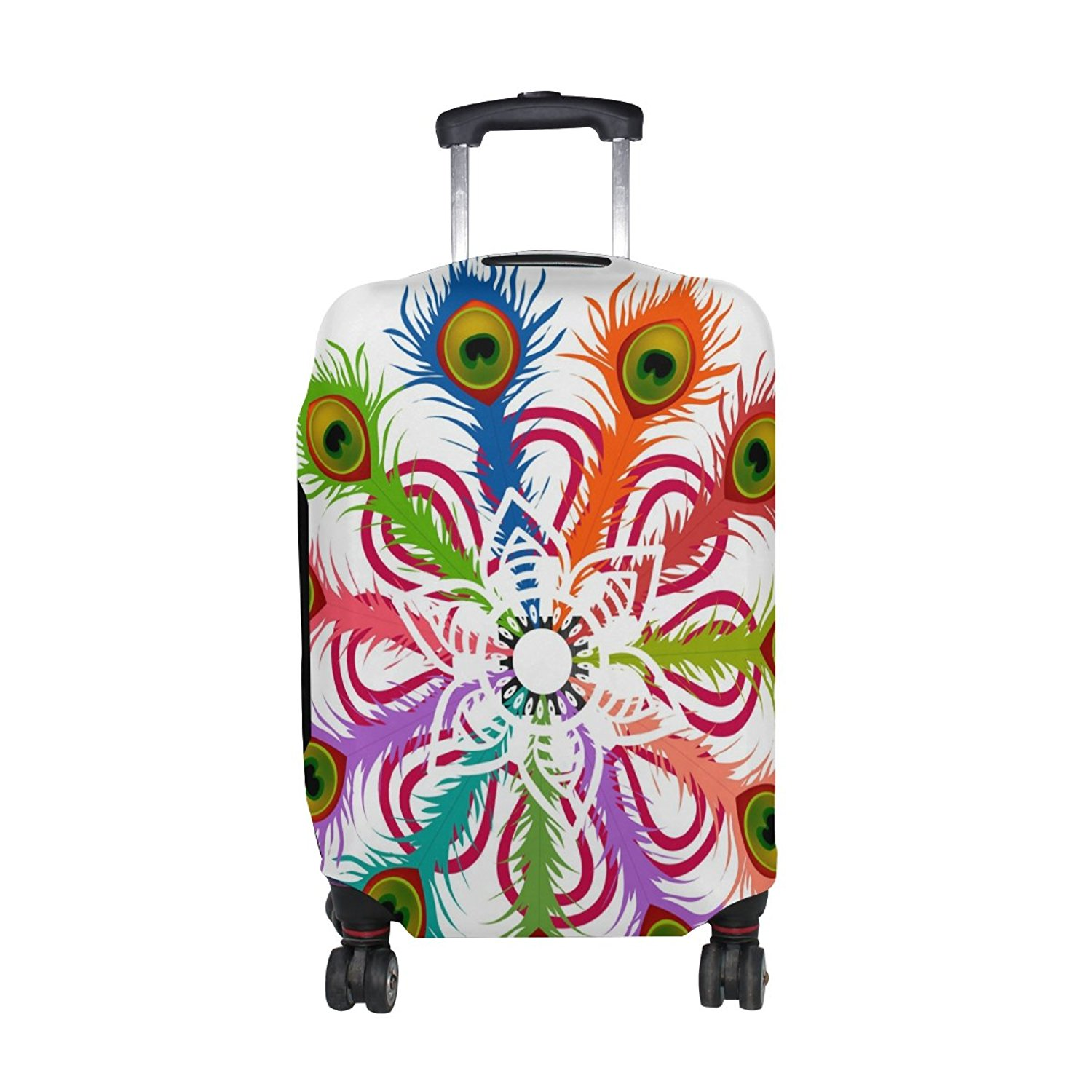 FOLPPLY Colorful Flamingo Pattern Luggage Cover Baggage Suitcase Travel Protector Fit for 18-32 Inch