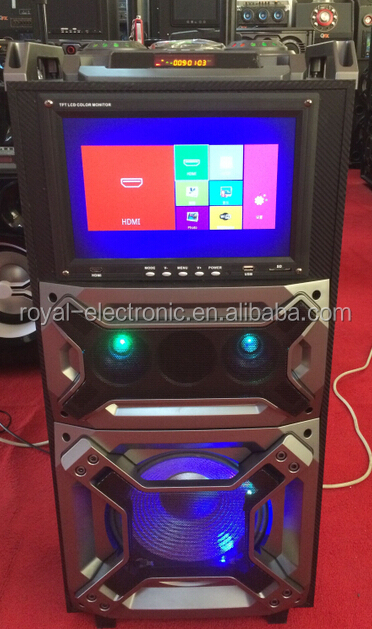karaoke battery portable speaker dj equipment with Bluetooth, light,Mic,---with TUV CE/RoHs