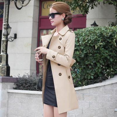 2014 new spring autumn women coat medium long trenchcoat sashes thin women casual dress coat for