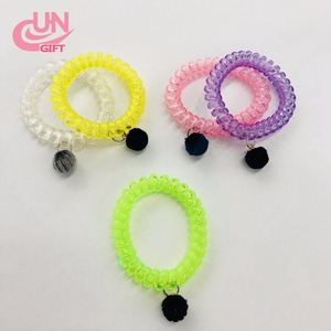 Coils Elastic Large Curly Hair Tie And Transparent Clear Markless Hair Ring