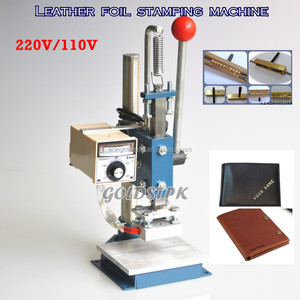 Manual leather logo embossed hot foil stamping machine (10x13cm)